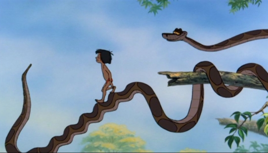 The Jungle Book Kaa and Mowgli
