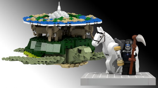 Terry Pratchett's Discworld In Lego Form
