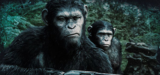 Dawn of the Planet of the Apes Caesar with gun