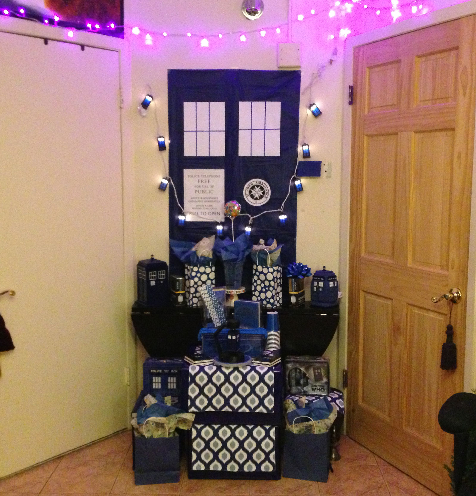 Doctor Who Tardis Party Decor