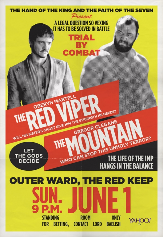 Game Of Thrones Trial By Combat: The Red Viper vs. The Mountain