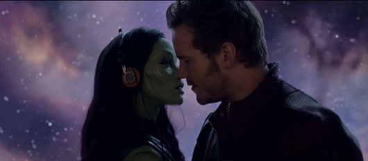 Guardians of the Galaxy Gamora and Star-Lord