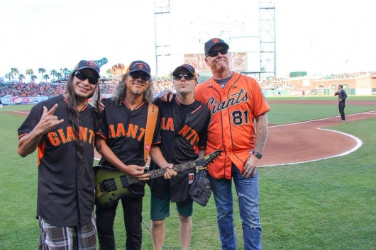 Metallica at San Francisco Giants 2nd Annual Metallica Night May 16, 2014