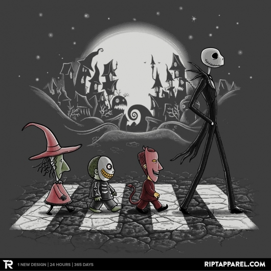 the nightmare before christmas beatles mash up halloween road - A Nightmare Before Christmas