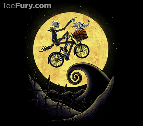 Nightmare Before Christmas E.T. The Shadow On The Moon Shirt
