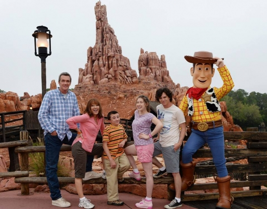 ABC The Middle Heck family with Woody at Disney World