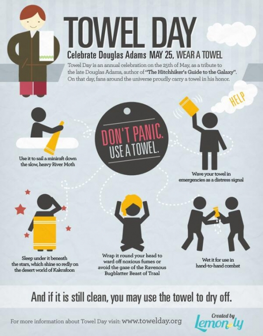 Towel Day infographic