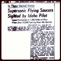 Kenneth Arnold's Flying Saucer makes the news!!