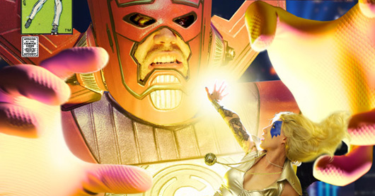 Dazzler and Galactus cover header image