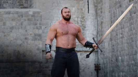 "Halfthor Bjornsson as ""The Mountain,"" Ser Gregor Clegane"