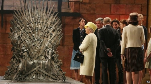 Queen Elizabeth Visits Game of Thrones Set