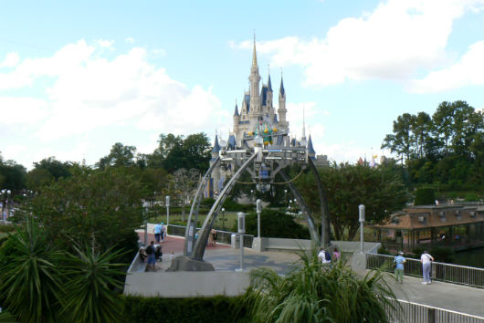 View of Cinderella Castle from aboard the Tomorrowland Transit Authority (Photo by Brett Nachman)