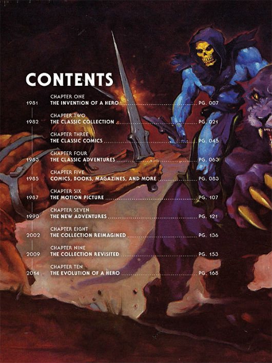 The Art of He-Man Table of Contents