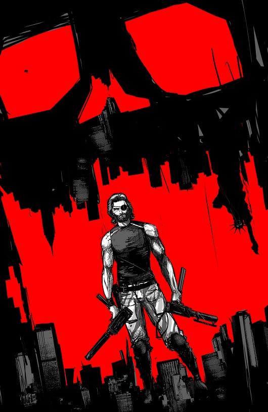 Escape from New York cover by Riley Rossmo