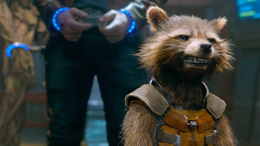 Rocket Raccoon (voiced by Bradley Cooper) in Guardians of the Galaxy