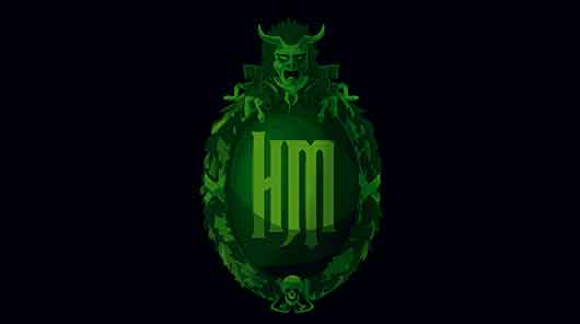 Disney Haunted Mansion medallion logo banner