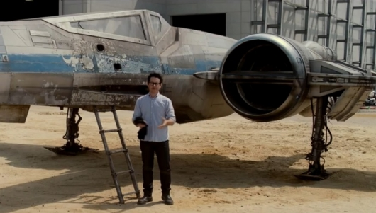 J.J. Abrams With Star Wars: The Force Awakens X-Wing
