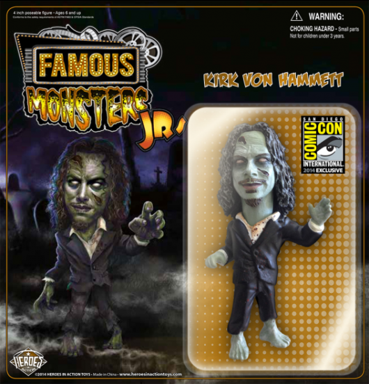 Kirk Hammett Limited Edition green Zombie Action Figure SDCC 2014