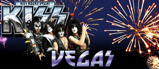 Kiss Rocks Vegas Hard Rock Announcement Poster