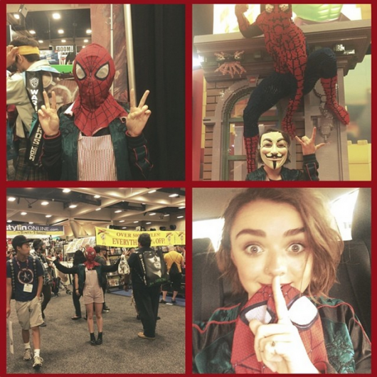 Game Of Thrones Star Maisie Williams Secretly Walked Comic-Con Floor In Spider-Man Mask