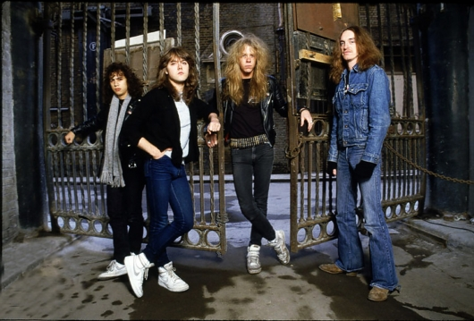 Metallica Band Photo with Cliff Burton