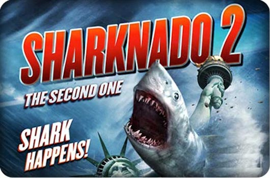 Sharknado 2 The Second One poster banner