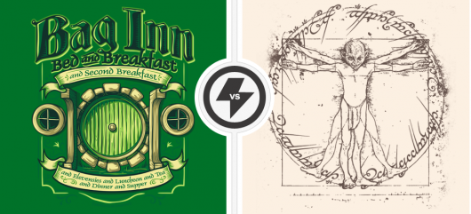 The Hobbit Bag Inn Vitruvian Gollum Shirts