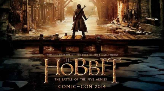 The Hobbit: The Battle of the Five Armies SDCC banner