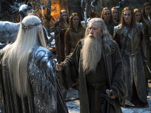 The Hobbit: The Battle of the Five Armies Gandalf (Ian McKellen) and Thranduil (Lee Pace)