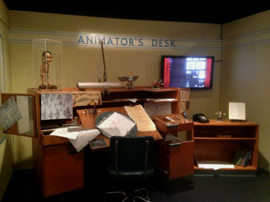 Animator's Desk representation featured at D23's Treasures of the Walt Disney Archives (photo by Brett Nachman)