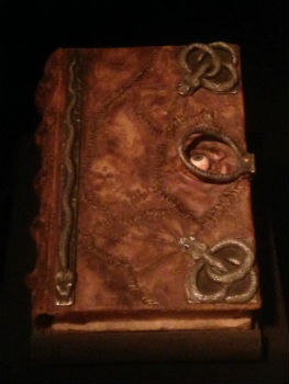 Hocus Pocus book featured at D23's Treasures of the Walt Disney Archives (photo by Brett Nachman)