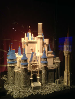 Cinderella Castle in Lego form featured at D23's Treasures of the Walt Disney Archives (photo by Brett Nachman)