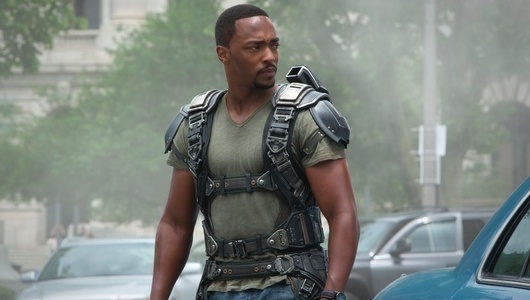 Anthony Mackie The Falcon in Captain America: The Winter Soldier