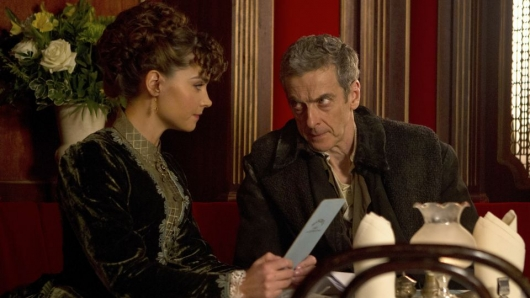 The Doctor and Clara Dining In Deep Breath