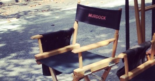 Marvel Daredevil Netflix series Murdock chair on set