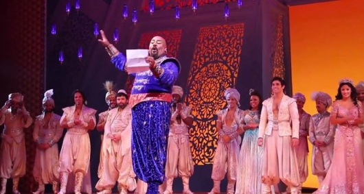 Cast of Disney's Aladdin Broadway Musical pays tribute to Robin Williams August 12, 2014