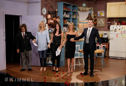 Friends Reunion Jennifer Aniston, Courteney Cox, Lisa Kudrow Jimmy Kimmel Live