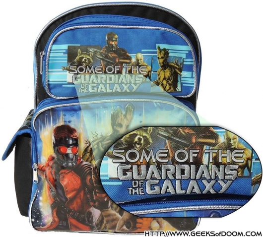 Guardians of the Galaxy backpack without Gamora revised title