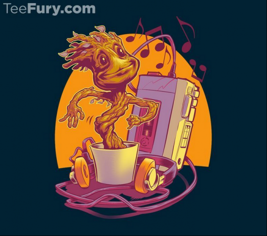 Guardians of the Galaxy dancing baby groot design Groovin' Through the Galaxy