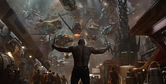 Guardians of the Galaxy drax the destroyer back shot