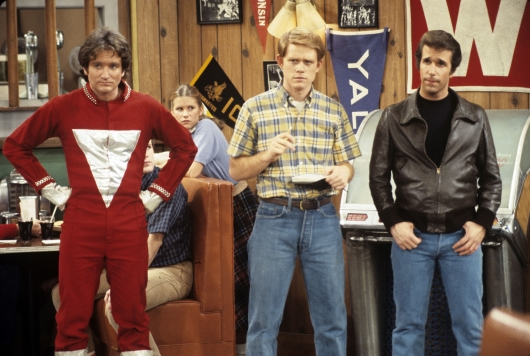 Robin Williams Happy Days Mork, Richie, Fonzie My Favorite Orkan