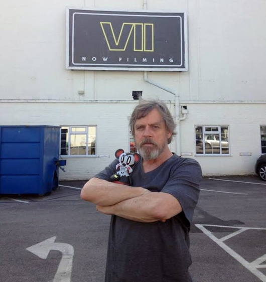 Mark Hamill Star Wars Episode VII Pinewood Studios UK 2014