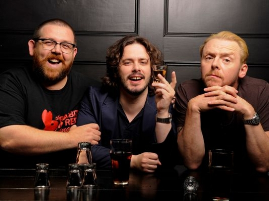 Nick Frost, Edgar Wright, and Simon Pegg
