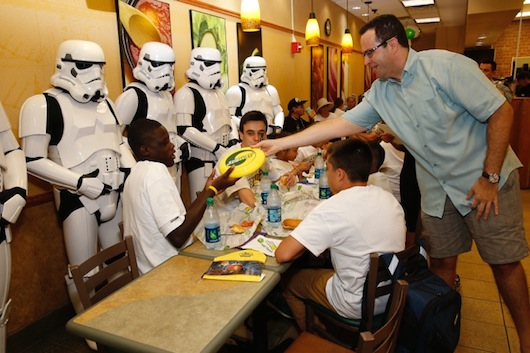 Subway Star Wars Jared Stormtroopers Boys & Girls Club