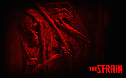 The Strain Coffin Logo