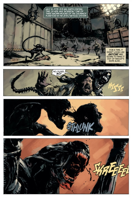 Aliens: Fire and Stone #1 preview page 1