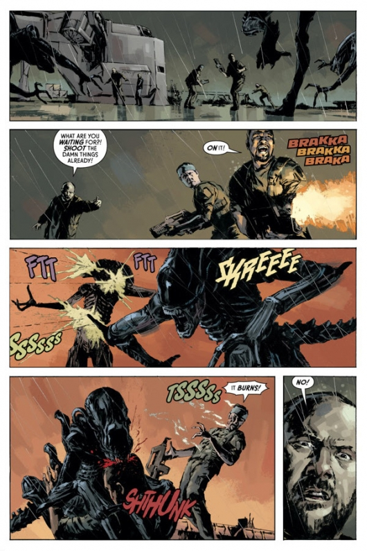 Aliens: Fire and Stone #1 preview page 5