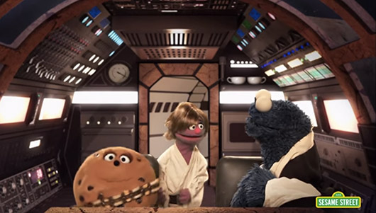 Sesame Street Takes On  Star Wars In Star S'Mores