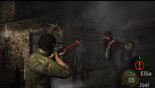 The Last of Us's Joel and Ellie in Resident Evil 4