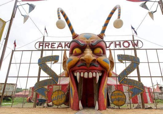 American Horror Story FX Freakshow Clown Entrance